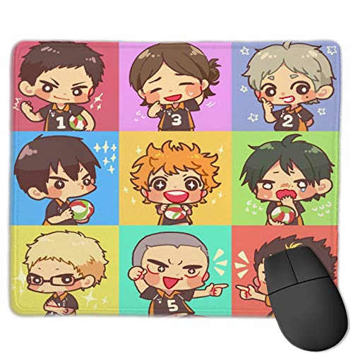 Anime Cute Mouse Pad Kawaii, Large Gaming Mousepad Non Slip Mouse Mat with Stitched Edges for Laptop Computer Desk Accessories