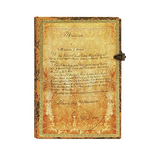 Paperblanks - Dumas' 150. Todestag Sonderausgabe - Notizbuch Midi Hardcover Liniert