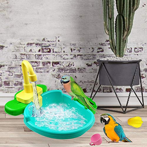Parrot bañera automática piscina con grifo pájaro ducha bañera pájaro grifo eléctrico...
