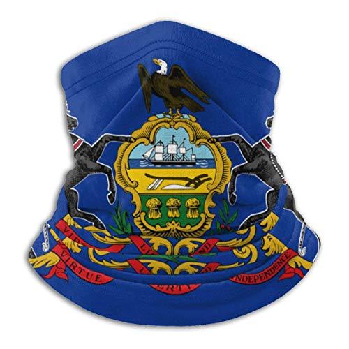 XXUU Wappen von Pennsylvania Neck Gaiter Tube Mask Kopfbedeckung, Motorrad Gesichtsmaske Gesichtsschal, Sturmhaube