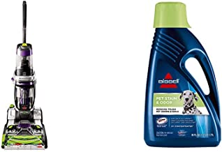 Bissell ProHeat 2X Revolution Pet Pro Full-Size Carpet Cleaner, 1986 &  2X Pet Stain & Odor Full Size Machine Formula, 60 ounces, 99K5A