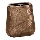 AmazinGrave - Vasche portafiori a Parete in Bronzo per lapidi e tombe - Vasca portafiori 19x17,5cm - in Bronzo, con Interno Ottone, a Parete 472-A1