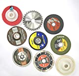 AASONS 4' Angle Grinder or Tile Cutter Metal/Wood Wheels/Discs for Cutting Wood/Metal, Polishing and Buffing, 9 Pieces, Multicolor