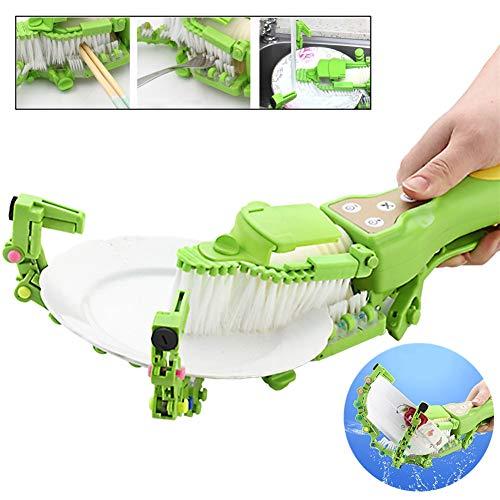ZHSHOP Automatische Handgeschirrspülmaschine Bürste Antibakterielle Küche Spülmaschinenbürste Für Komfort Intelligente Geschirrspülmaschine Haushaltsküche Mini-Schüssel Waschmaschine Vegetable Grater