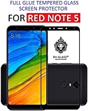 Dashmesh Shopping Full Glue Edge to Edge Tempered Glass Screen Protector with Additional Installation Kit for Redmi Note 5 (Black)