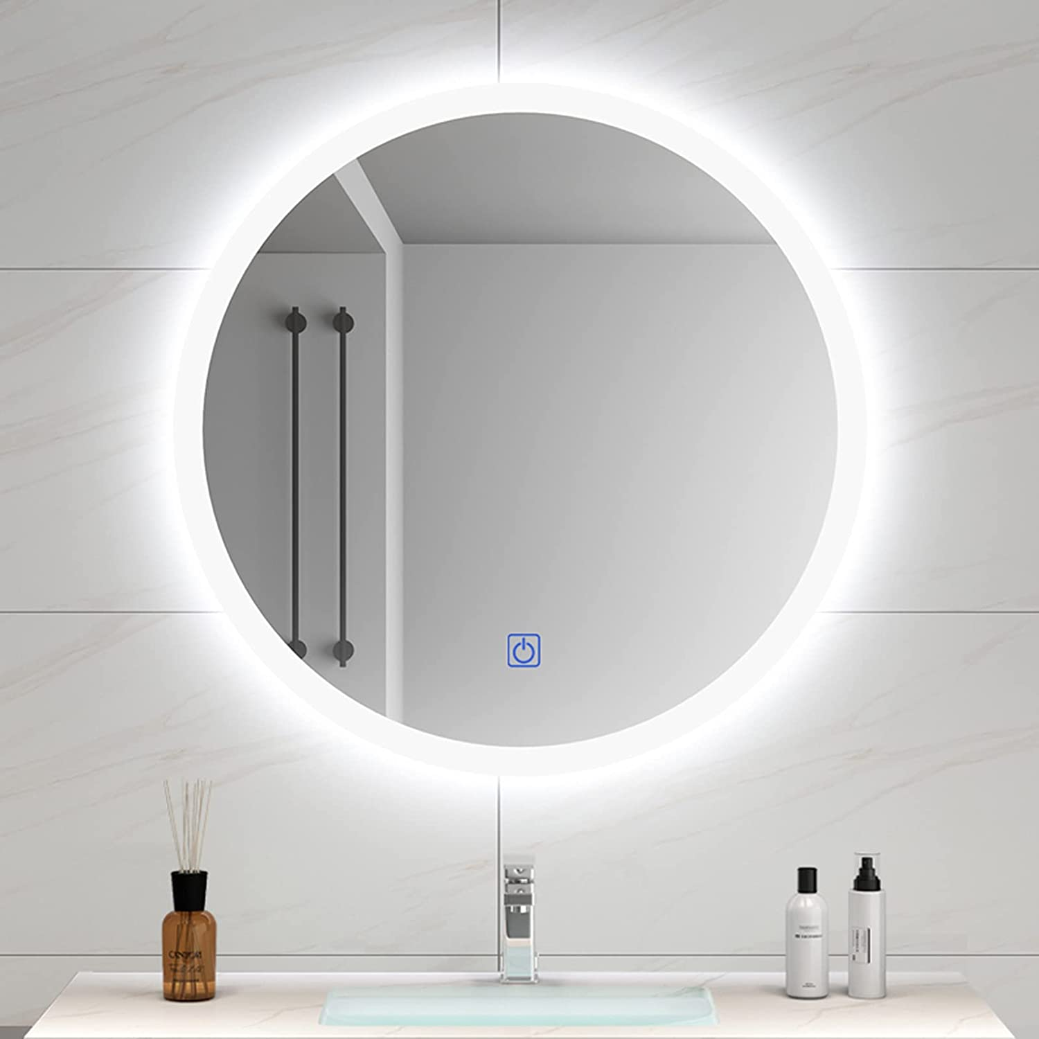 YZJJ LED Lighted Bathroom Mirror Backlit Max 61% OFF Ro Mounted Wall Our shop OFFers the best service