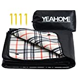 YEAHOME Picnic Blanket Beach Mat, Triple Layers Waterproof Outdoor Blanket, Extra Large Sand Proof Portable Camping Blanket 60x70, Great for The Beach, Park, Camping on Grass