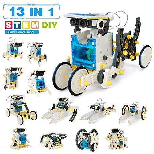 Robot Giocattolo Bambini -Robot Solare 13 In 1 -Costruzioni Per Bambini Adulti -Giochi Robot Interattivo Intelligenti -Giochi Scientifici Bambini Dida