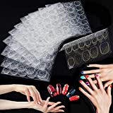 (50sheet 1200PCS) Double-Sided Glue Nail Sticker, Jelly Gel, False Nails Tip, Self-Adhesive Nail Tip, Flexible Fake Nail Tip Adhesive Tab Nail Glue, for DIY Decoration Stencil Tool