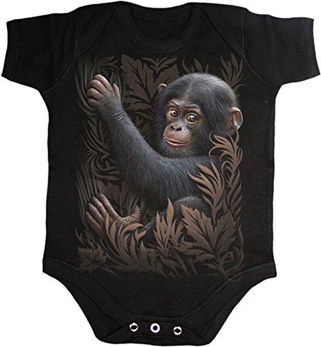 Spiral - Monkey Business Baby Sleepsuit Black (Body Bambino TG. S) Merchandising
