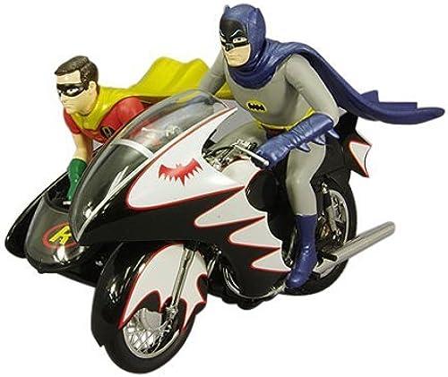 tienda de venta Batman Classic 1966 Series Batcycle with Batman & & & Robin Hot Wheels Elite Vehicle by DC  alta calidad y envío rápido