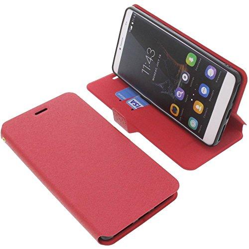foto-kontor Tasche für Bluboo Maya Max Book Style rot Schutz Hülle Buch