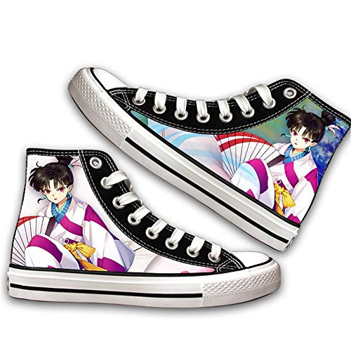 JPTYJ Inuyasha Sesshoumaru Alpargatas para Hombre Anime High Top Canvas Shoes Sneakers Trainers Cosplay Botines para Hombres Mujeres B-39