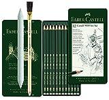 Faber-Castell 119065 Castell 9000 Lápices (12 unidades, 8B - 2H, 12 unidades, difuminador y borrador)