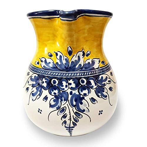 Jarra de cerámica artesanal 17 cm (1,35 litros) diseño RENACIMIENTO. Alfereria. Fabricado y pintado a mano. Cerámica de Puente del Arzobispo. Handmade. Made in Spain. CERÁMICA GÓNFER