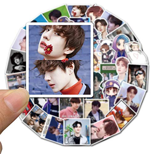 50pcs Wang Yibo Emoji Pack Sticker Handbook Notebook Mobile Phone Case Luggage Personality Creative Waterproof Pvc Sticker