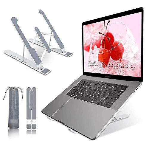 """Soporte Portátil Mesa 6 Ángulos Ajustables, Plástico ABS+silicona+aleación de aluminio, Soporte Ordenador Ventilado Plegable, Laptop Stand, Ligero Soporte Mesa para Macbook DELL XPS, HP, PC 10-15.6"""""""