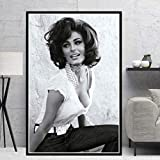 MZCYL Poster Drucke Sophia Loren Schwarz Weiß