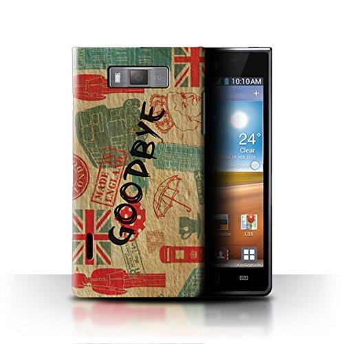 Stuff4® Hülle/Case für LG Optimus L7/P700 / Auf Wiedersehen Europa Muster/Großbritannien/Britischer Stolz Kollektion