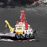 LMIITAM 2.4G Ferngesteuerte Feuerlöschboot RC Elektrisch Rettungsboot mit Pumpe