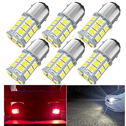1157 Led Bulb, 12V Super Bright 2057 2357 7528 BAY15 2057A 1157A LED Bulbs for Brake Tail, Parking Lights, Pack of 6pcs