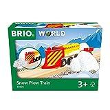 BRIO Treno Spazzaneve, Treni, Vagoni, Veicoli di BRIO World, 4 Pezzi, Età Raccomandata 3+, Gioco per Bambini, 33606