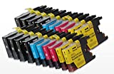 20XL Compatibile catouches di inchiostro per Brother LC1280(8Nero + 4CIANO + 4MAGENTA + 4Giallo) per Brother MFC-J5910DW, MFC-J6510DW, MFC-J6710DW, MFC-J6910DW
