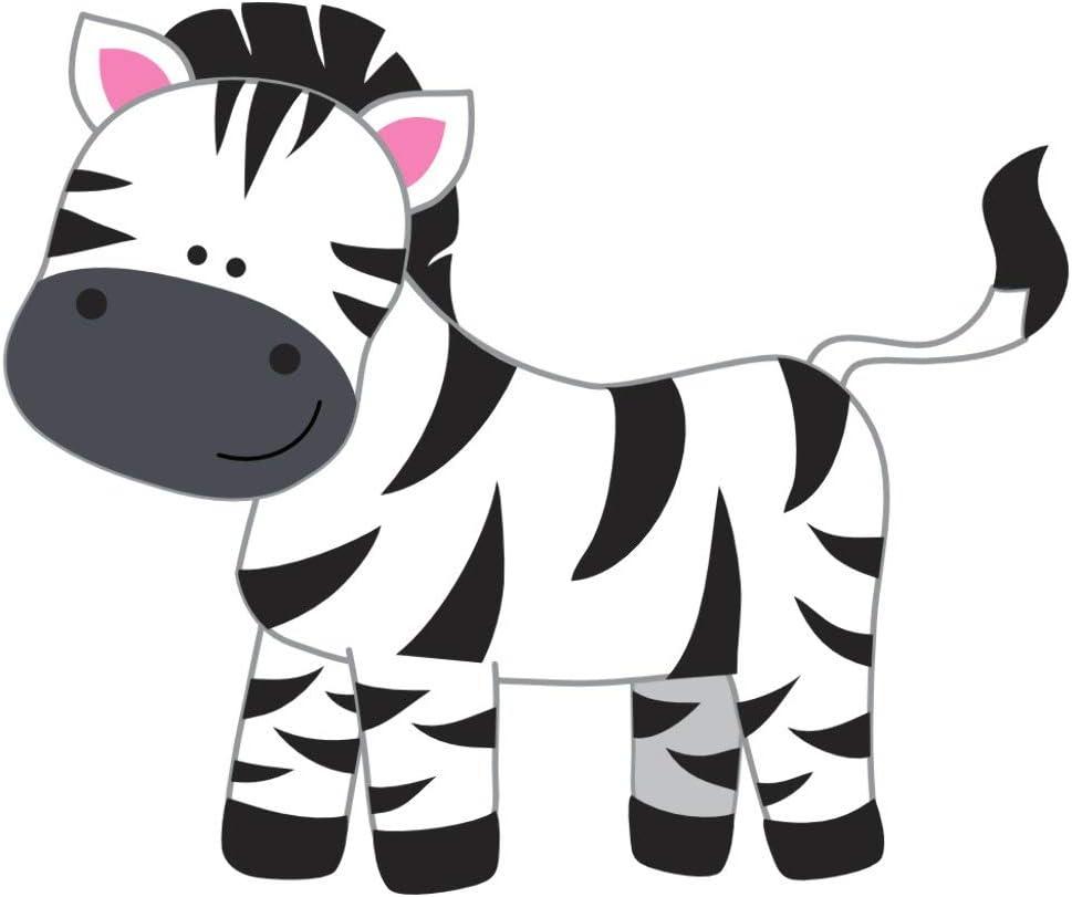 Samunshi Zebra Aufkleber Sticker Autoaufkleber Scheibenaufkleber In 8 Größen 40x33cm Mehrfarbig Küche Haushalt