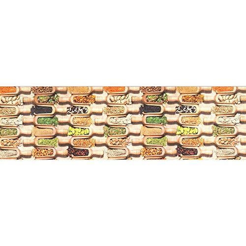 IlGruppone Tappeto passatoia Fantasia legumi Cucina Antiscivolo Lavabile Varie Misure - Fantasia - 50 x 150 cm