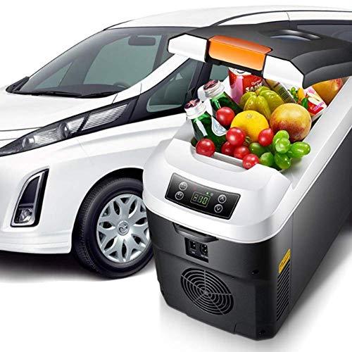 Frigorifero portatile con congelatore, mini frigorifero 12v / 24v / 220v per uso generale, frigorifero e riscaldatore compatto per refrigerazione dual core 10 litri, per auto, camion, casa , campeggio
