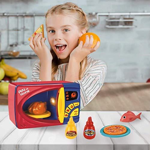 Juguete de la microonda, cocina cocina simulación papel simulación juego aparato de cocina