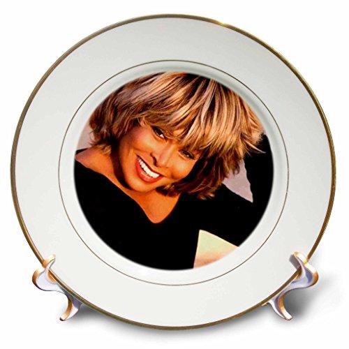 3dRose Tina Turner - Tina Turner - Placas (cp_3900), 8 inch Porcelain Plate, 1