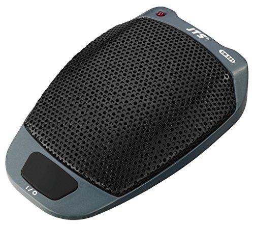 JTS CM-601 Elektret-Grenzflächenmikrofon, Bühnen-Mikrofon für Theater-Aufführungen und Diskussionen, Sprach-Verstärker mit robustem und trittsicherem Gehäuse, in Schwarz