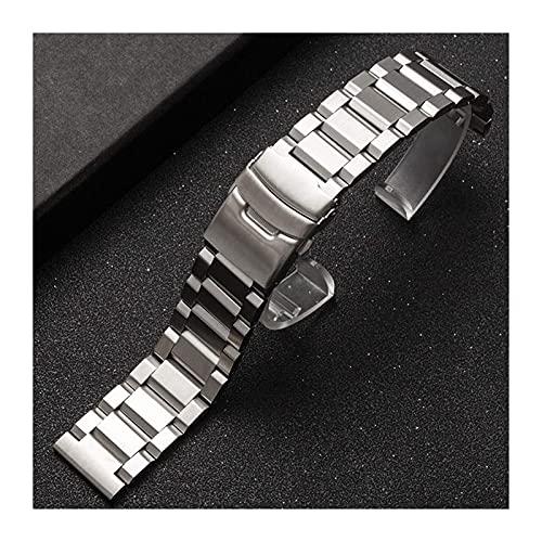 18 mm 19 mm 20 mm 21 mm 22 mm 23 mm 24 mm 25 mm Correa de reloj de acero inoxidable Metal sólido Hombres Mujeres Correa Pulsera Accesorios de banda de reloj Pulsera (Color de banda: Oro, Ancho de