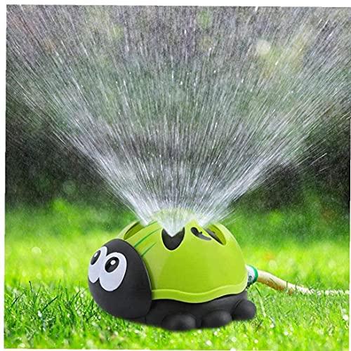 Runfon Niños Sprinkler Toy Niños Jardín Césped Agua 360 Grados Pulverizador Ladybug Diversión Juguetes