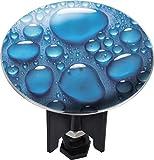WENKO 21251100 Waschbeckenstöpsel Pluggy® XL Drops - Abfluss-Stopfen, für alle handelsüblichen Abflüsse, Kunststoff, 6.2 x 6.6 x 6.2 cm, Mehrfarbig
