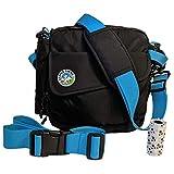 Jasper Swag Premium Dog Walking Bag, Fanny Pack Waterproof Purse with Water Bottle Holder | Dog Walking, Training, Travel, Dog Treat Pouch | Nylon Crossbody Messenger Body Bag (Blue)