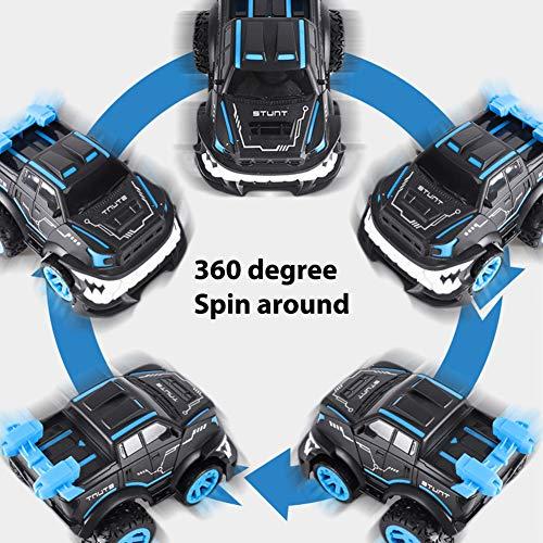 Kinder RC Cars Toys, Nette Shark Stunt Ferngesteuertes Auto 2,4G High Speed Offroad Klettern Auto 360 Aufrechte Umdrehung rot