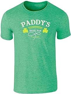 Pop Threads Paddy's Irish Pub Philadelphia St Patrick's Day Graphic Tee T-Shirt for Men
