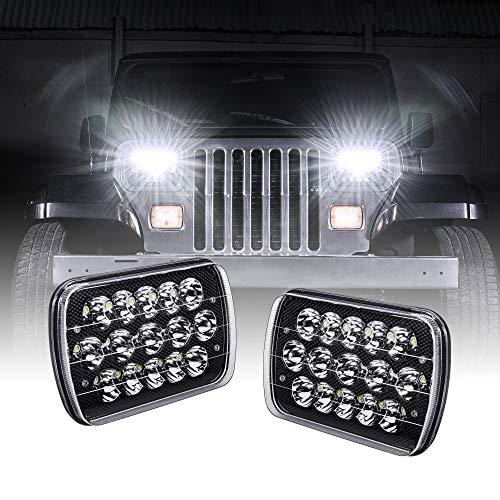 7x6 5x7 LED Headlights H6054 H5054 [Black Finish]...