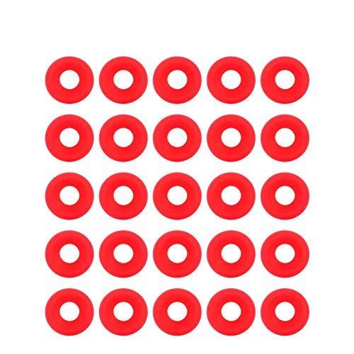 25 piezas Juntas Grolsch Juntas Grolsch de goma de silicona Arandelas Juntas de botella EZ Cap Juntas de botella con tapa giratoria Sello de botella de cerveza de cerveza casera