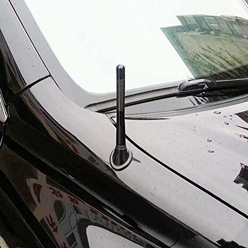 Demarkt–Auto antena antena de varilla corta aluminio Antena Antena Techo Radio Antena 12cm