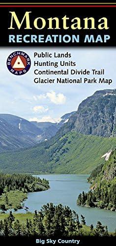 Montana Recreation Map Benchmark Maps product image