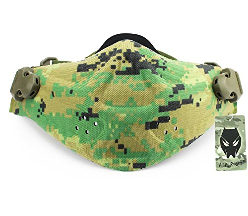 Worldshopping4u Military Tactical Paintball Softair Jagdsport Half Face Maske Neopren Light Gewicht Hartschaum Maske AOR2