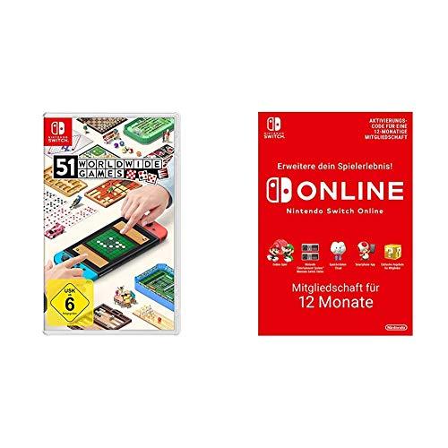 51 Worldwide Games + Nintendo Switch Online Mitgliedschaft - 12 Monate   Switch Download Code
