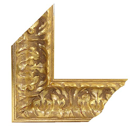 OLIMP-16 Bilderrahmen 33x95 cm Echtholz Barock in Farbe Antik Gold Matt