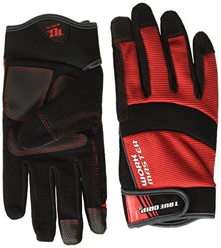 True Grip 9822–23 Medium Gants de travail Master avec écran tactile doigts – Rouge/Noir