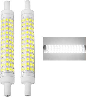 MD Lighting 12W R7S T3 LED Corn Bulb, 2 Pack Daylight White 6000K, 118mm 120 LEDs 1250LM J Type 120W Halogen Bulb Equivalent J118 Double Ended Floodlight for Landscape Light, Floor Lamp, 85-265V