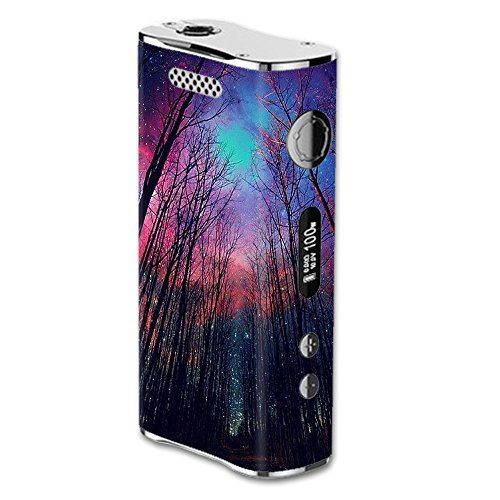 Skin Decal Vinyl Wrap for eLeaf iStick 100W Vape Mod Skins Stickers Cover / Galaxy Sky through Trees Forest