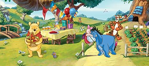 1art1 Winnie Puuh Der Bär - Garden Party Premium Vlies Tapete Poster-Tapete 202 x 90 cm